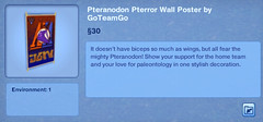 Pteranodon Pterror Wall Poster by GoTeamGo