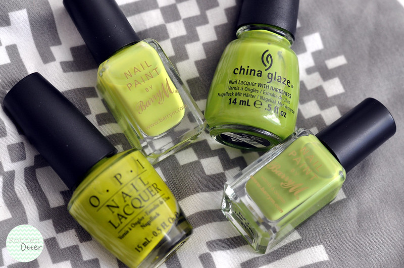 green yellow nail polish choices rottenotter blog 1