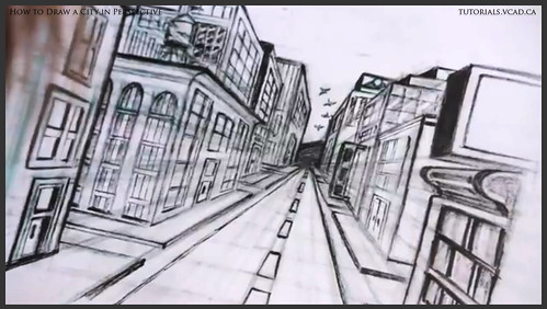 learn how to draw city buildings in perspective 042
