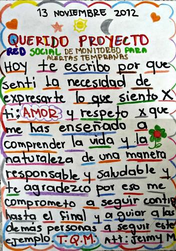 Carta de Amor de Jeimy M, del municipio de Angelópolis