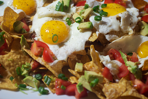 Egg and Chorizo Nachos #weekdaysupper