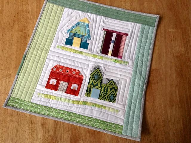 houses mini quilt