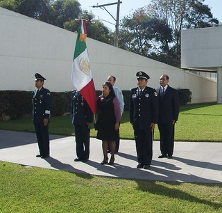 Ceremonia de conmemoración del Día de la Bandera de México