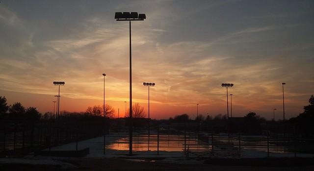 Tennis court sunset 2