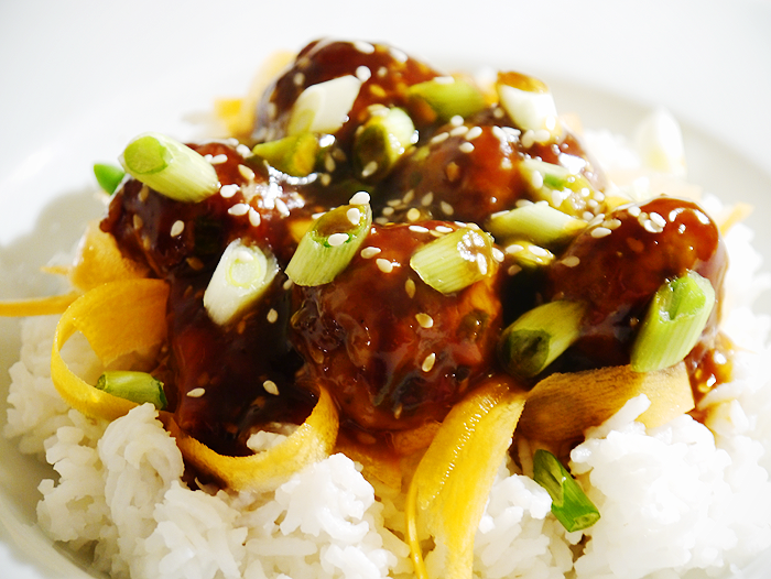 teriyaki glazed meatballs recipe 1