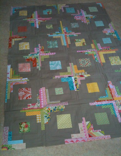 Top of my Converging Corners quilt is done!!