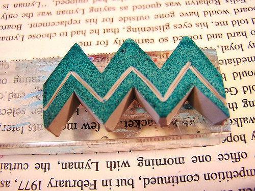 chevron hand carved stamp by AutumnHathaway