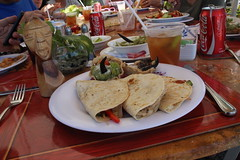 Chicken quesadillas at the Ocean Breeze's poo…