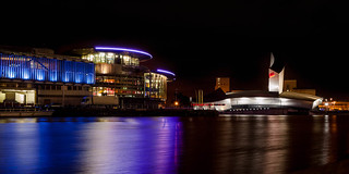 Salford Quays - IWM and the Lowry Centre
