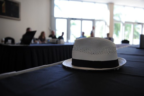 A man, a hat, ...
