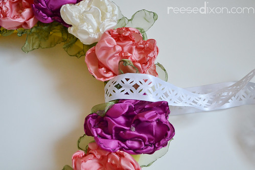 Singed Flower Wreath Tutorial Step 10