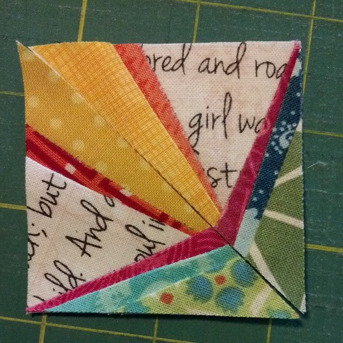 Doing some teeny tiny #paperpiecing tonight for the #stashbash pouch swap!