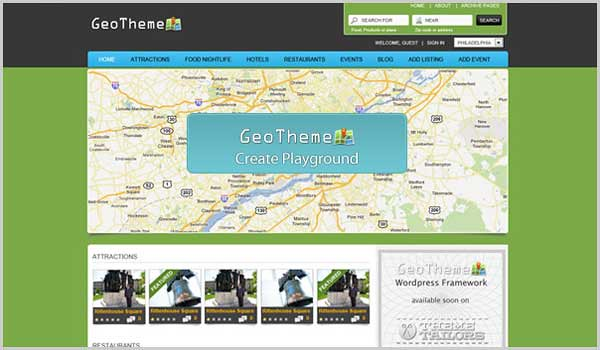 wordpress directory theme geotheme