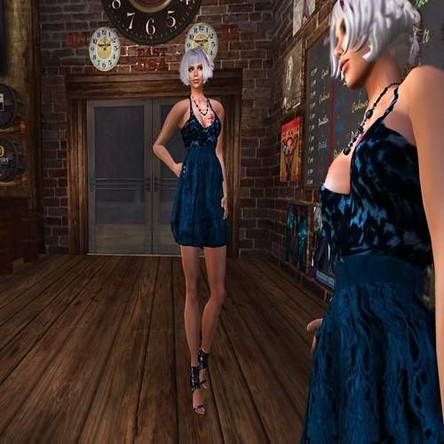 Paris METRO Couture_ Lace Candy Cocktail Dress - Blue by Paris Metro Couture