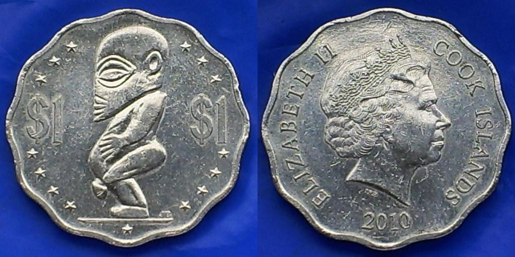 Cook Islands One Dollar 2010