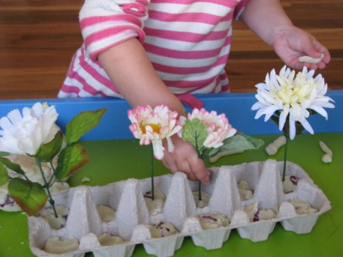 Create a Spring Play Dough Garden (Photo from Learning 4 Kids)