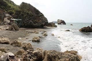 西子灣海岸樣貌仍完整。