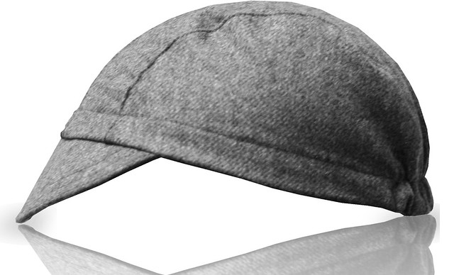 grey black wool side bc cap