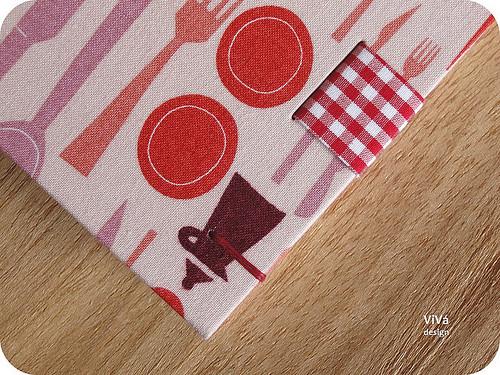 Detalhe da faixa de tecido.