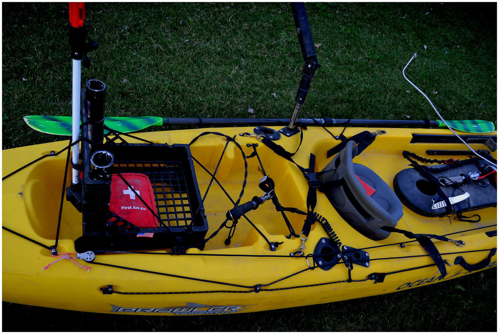 How i rig my kayak for Central coast kayak fishing