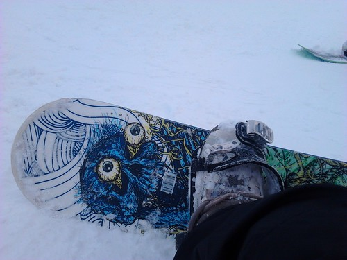 First time on snowboard