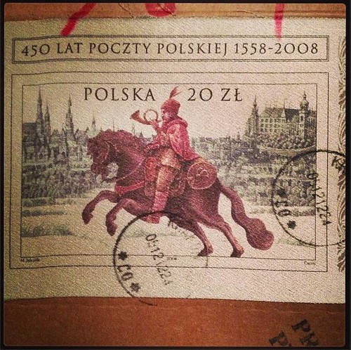 Stamp from Poland