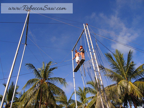 Rebecca saw 1Club Med Bali - flying trapeze - rebecca saw