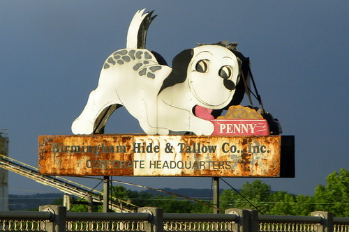 Penny Dog Food sign - Birmingham, AL