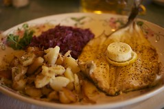 Rainbow Trout, Potatoes and Red Cabbage