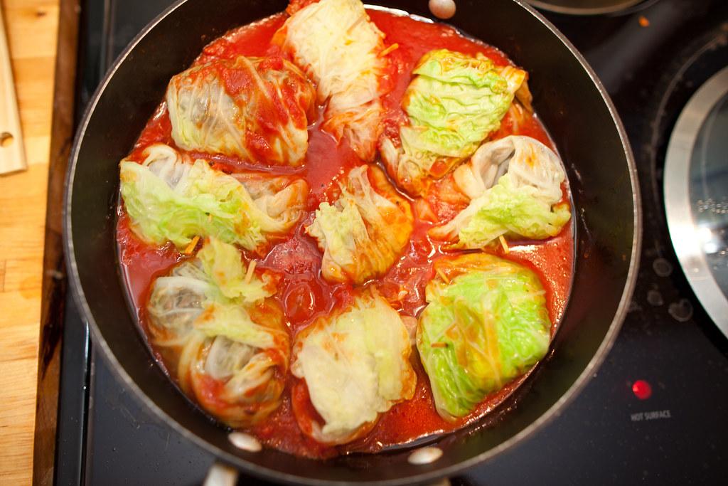 Vegan Italian Stuffed Cabbage