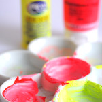 Mixing neon paints