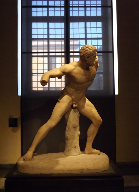 Statue of Fighting Hercules in the Capitoline Museum, July 2012