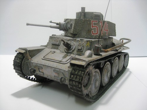 Mô hình xe tăng làm từ giấy