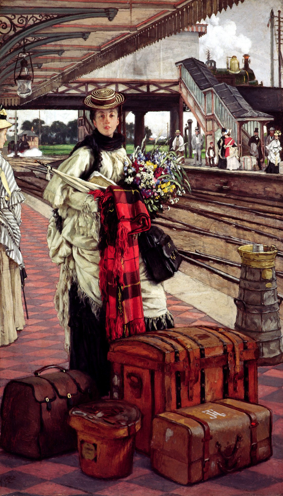 Waiting at the Station, Willesden Junction by James Tissot, 1874