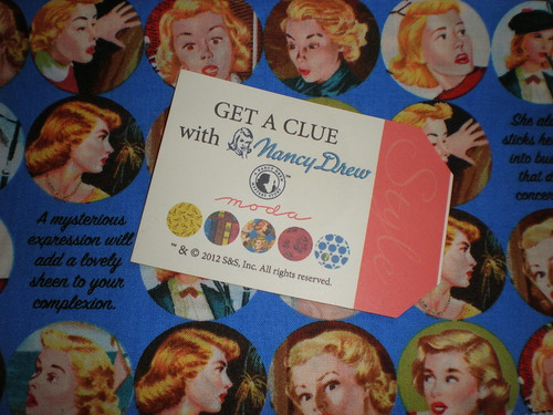 Get a Clue Nancy Drew Fabric