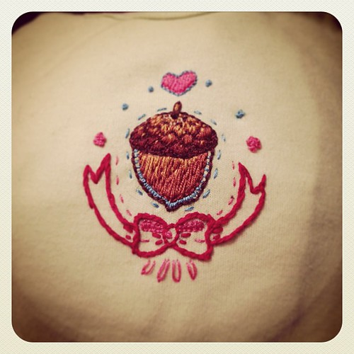 Little embroidery project I just finished on a onesie #needlecraft