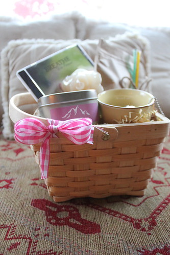 Breast Cancer Small Gift Basket by Breast Cancer Yoga