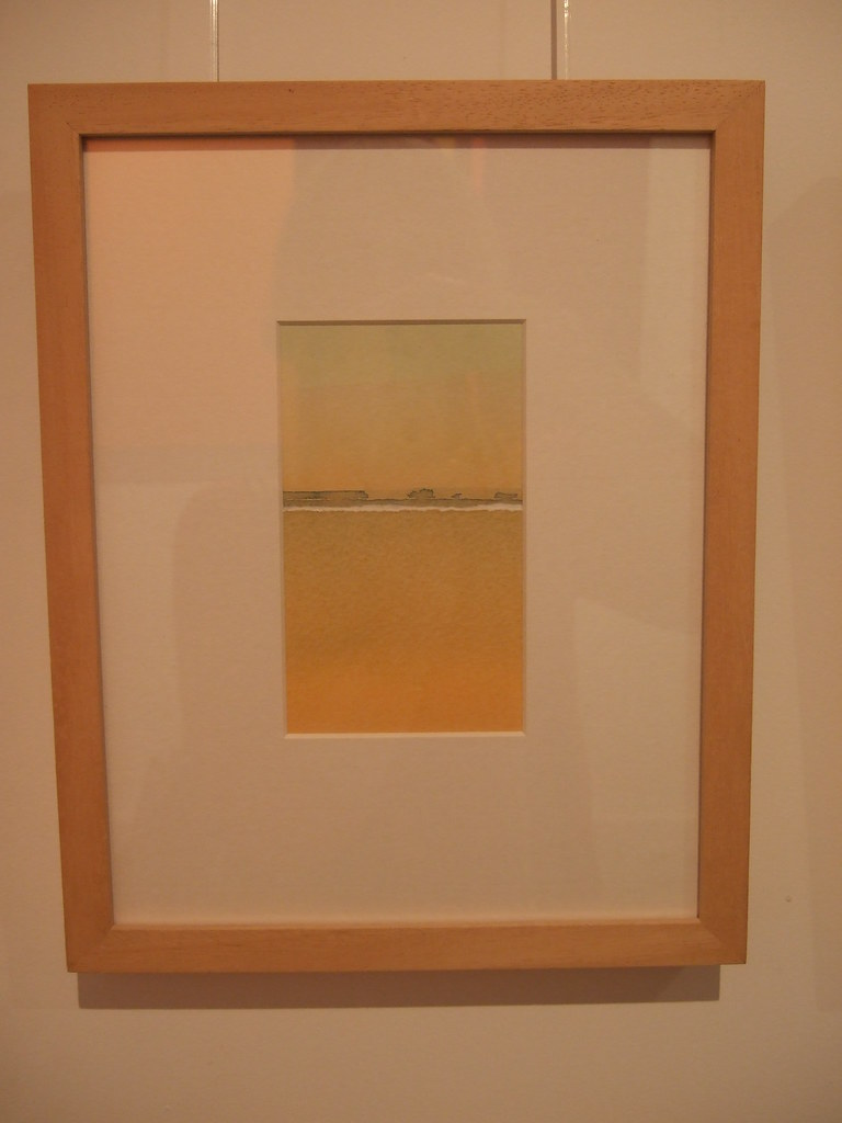 Justin Hawkes, Montage, watercolour, 14 x 8 cm, Williams Art Gallery, Cambridge, 2012.