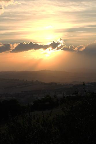panorama tramonto recanati hdr paesaggio