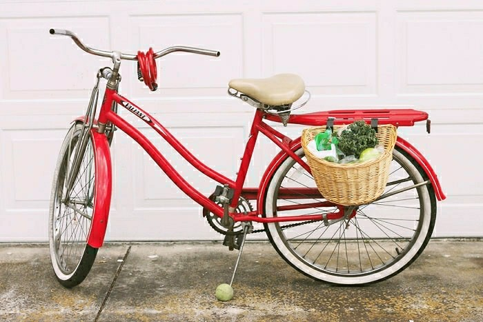 bike with a basket