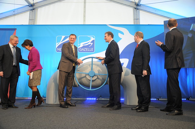 Opening of the GAZELLE Pipeline by Petr Nečas, Prime Minister of the Czech Republic, and Thomas Kleefuß, CEO NET4GAS