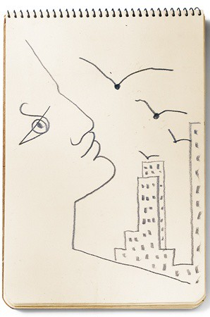 jean-cocteau-sketch-from-his-arrival-in-new-york