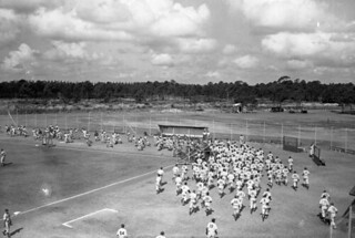 Team Exercises at Brooklyn Dodgers Spring Training: Vero Beach, Florida