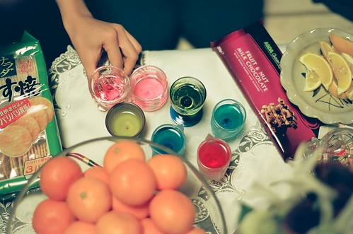 in which we dye tequila rainbow colours, because we can.