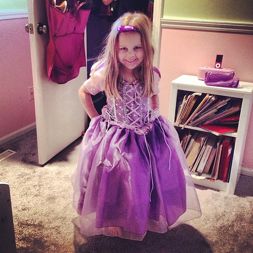 Girl got a real live Tangled dress from her Auntie and Unclie
