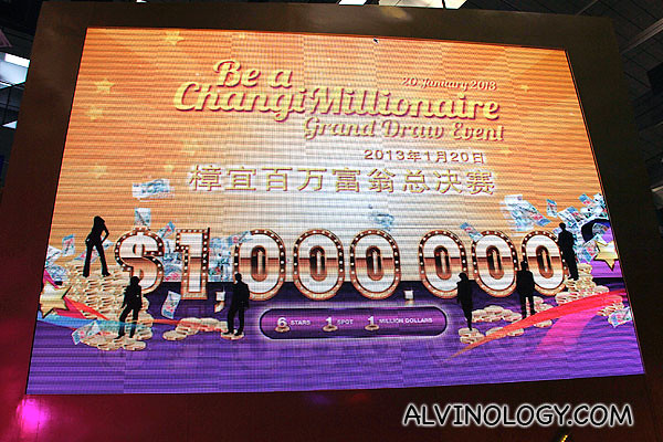 Be a Changi Millionaire Grand Draw event!
