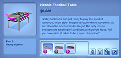 Neonis Foosball Table