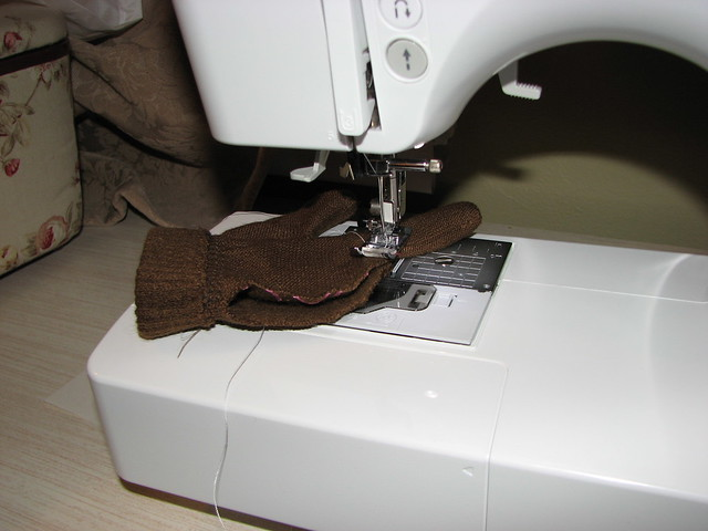 Slowly stitch the hole closed
