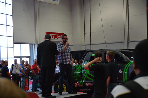 Rutledge Wood from Top Gear in the Toyota booth