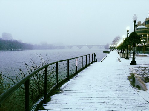 Snowy Waterfront